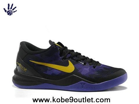 27a3e949a23e ... Nike Zoom Kobe VIII Purple Yellow Lakers ...