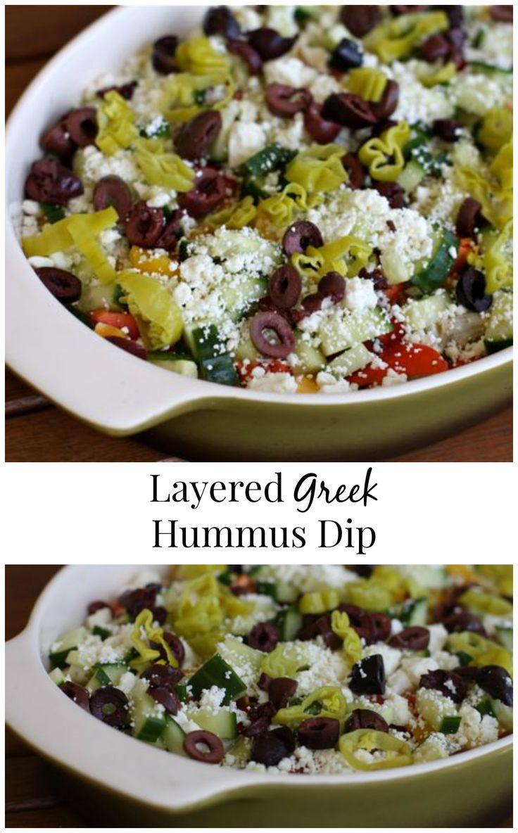 Layered Greek Hummus Dip | Aggie's Kitchen