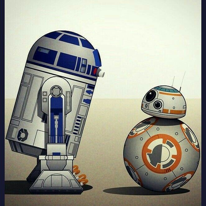 Bb8.... I am your father! #bb8 #r2d2 #starwars #droids