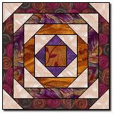 """Pineapple quilt: pattern for 15"""" block"""