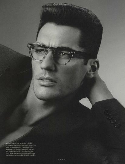 Spectacles  Editorial from Fantastic Man Magazine, Fall/Winter 2008 / ANTHONY MAULE / Model: David Gandy