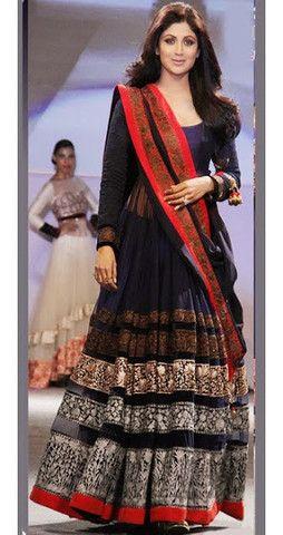 Shilpa Blue Anarkali | Veeshack Shop