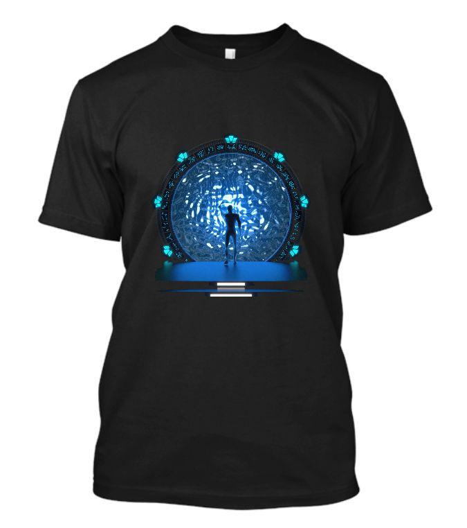 Hot 2017 Summer Men'S T Shirt Fashion New Stargate Portal Movie Sg-1 Atlantis Tv Serie Infinity Stargate T Shirt #Affiliate