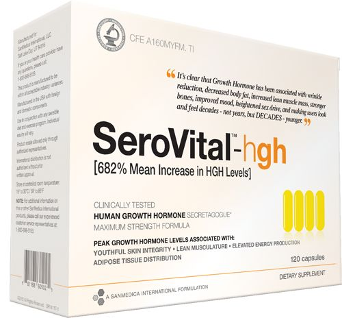 SeroVital :: Natural Increases in Human Growth Hormone (HGH) Levels Anti-Aging Supplement ((as seen on Dr Oz show - reduces fat, wrinkles, increases muscle mass, etc. etc.))