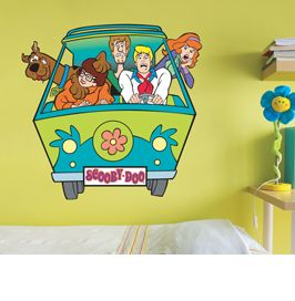Scooby Doo Wall Sticker! #mysterymachine #scoobydoo #kidsroom #children #wallsticker #wallart #scooby #interiordesign #home