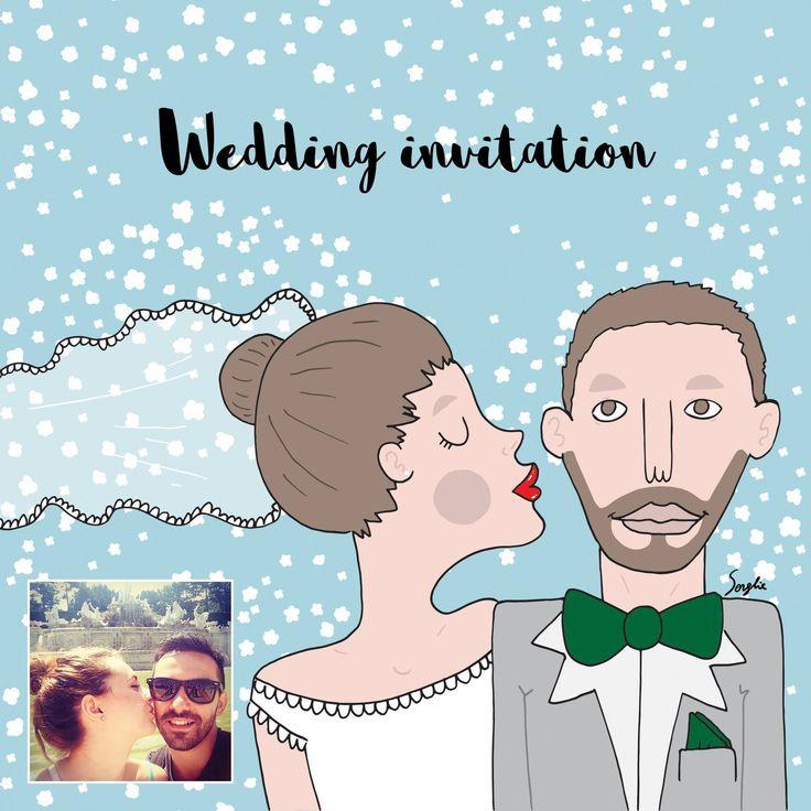 Invitații de nuntă după fotografia ta / Wedding invitations after your photo  Comenzi / Orders: www.adrianserghie.ro serghieadrian@gmail.com