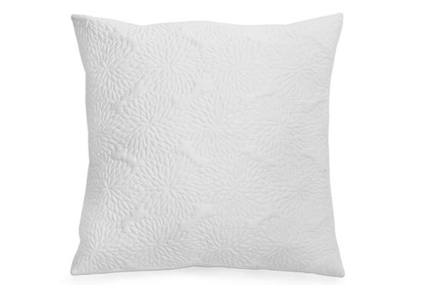 DKNY Chrysanthemum Floral European Pillow Sham White