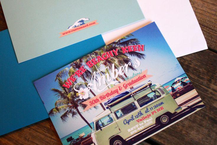 Beachy-Keen Beach Invitations