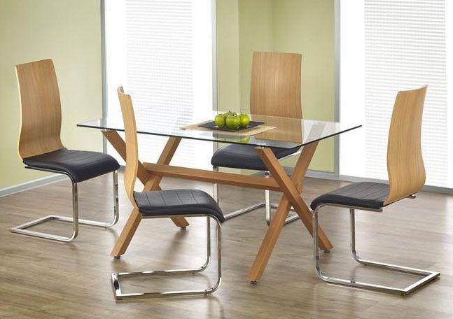 Stół Gartner to idealne rozwiązanie do niewielkich pomieszczeń, w których oszczędność miejsca to rzecz priorytetowa. Niezwykły stelaż stołu to stal malowana w kolorze olcha, która z pewnością będzie pasować do ciepłego wystroju wnętrza,  a prostokątny blat to bezpieczne, bezbarwne szkło hartowane.