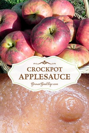 No added sugar for this Crockpot Applesauce recipe. Slow cooking the apples in a crockpot brings out their natural sweetness.