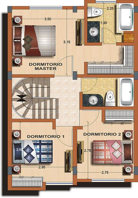 Casa tipo B - Planta 2 | Alexina 1 - Distribuciones renderiz… | Flickr