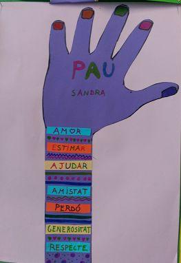 Polseres amb alguns valors necessaris per conviure i habitar el món en Pau.