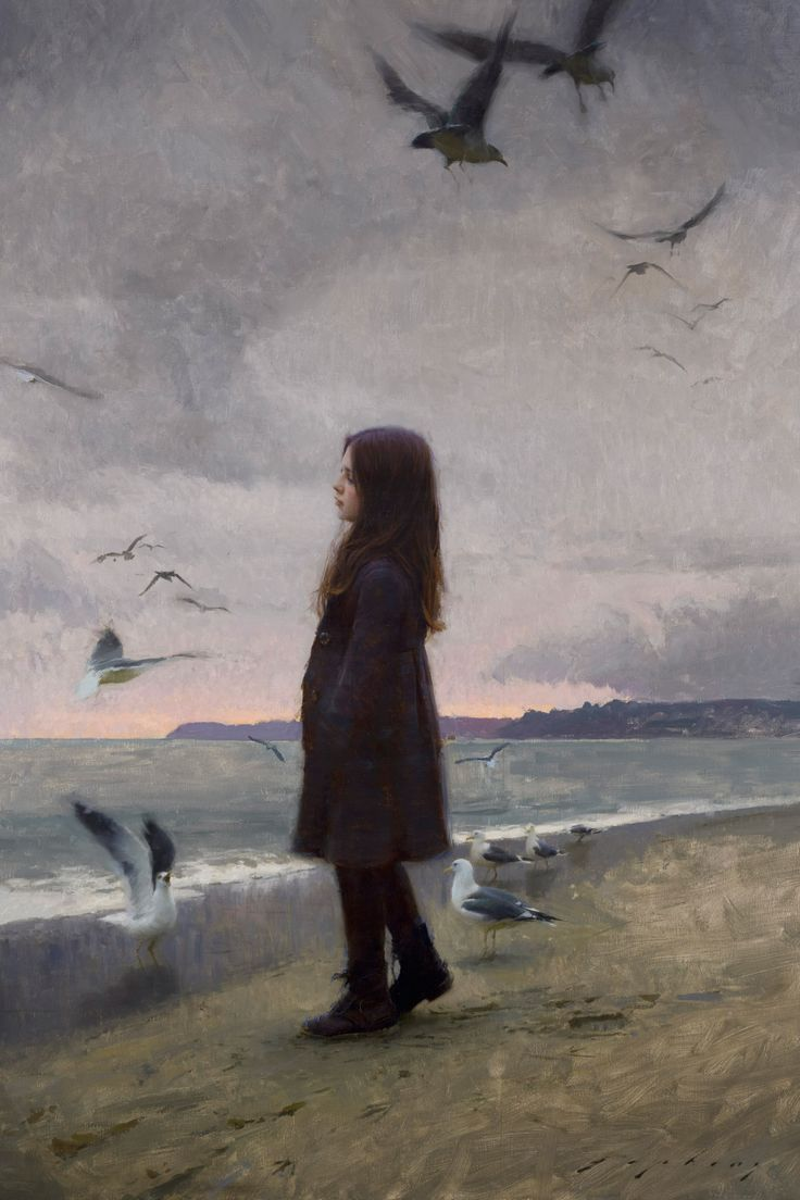 Thoughts of Summer by Jeremy Lipking - For someone, this is a common painting of a girl on a beach. However it's also in the name. This Painting has symbolic. Everyone can see something different in this picture.