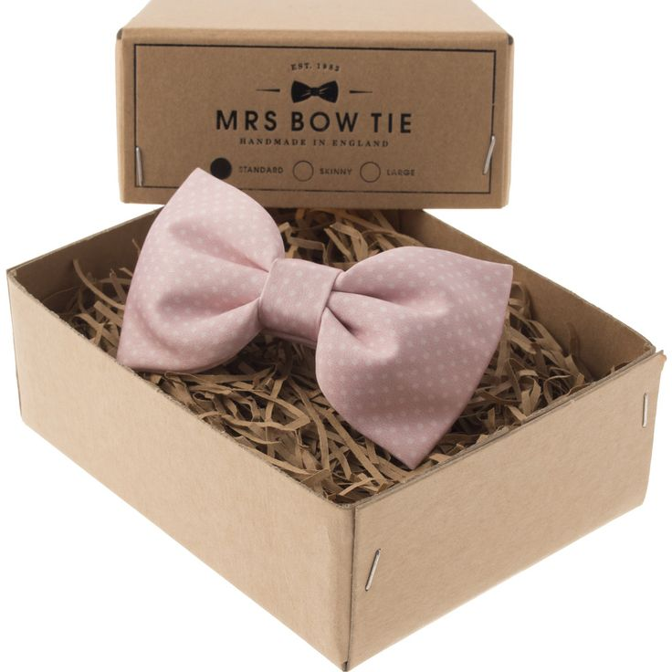 Mrs Bow Tie Dickinson Ready-Tied Bow Tie | Soft Blush