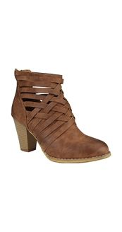 Criss Cross Ankle Boots