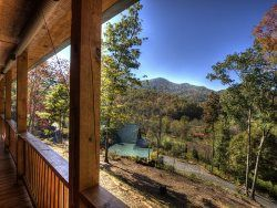 Views from Elk Crossing's Front Porch.  Bryson City Cabin Rentals - Bryson City, NC