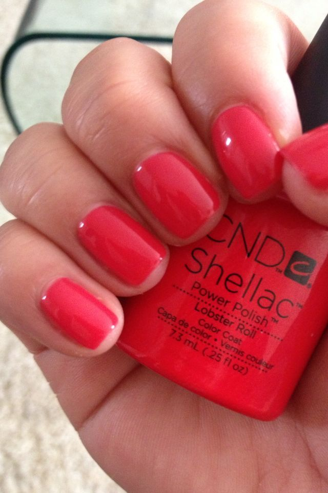 Cnd Shellac In Lobster Roll In 2019 Shellac Colors Shellac Nail Colors Summer Nails
