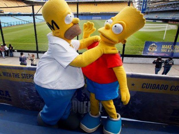 Los Simpson visitaron La Bombonera