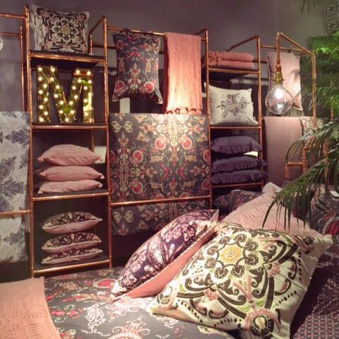 Odd Molly home interior collection FW15 at Frölunda Torg, Sweden | Interior design | Pillows, bedset and throws | Into the woods