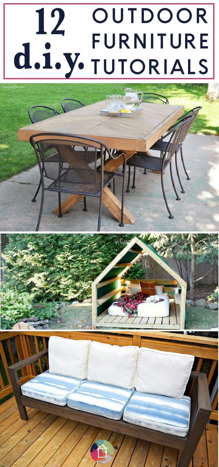 17 best ideas about diy outdoor furniture on pinterest for Outdoor furniture projects