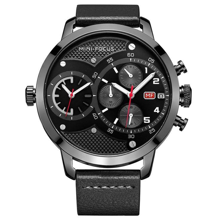 Cheap MINI FOCUS MF0030G Men Quartz Online black | Tomtop  #women #men #fashion #jewelry #watches