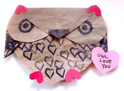 """I love this little owl--he's even stamped with hearts for Valentine's Day!  I have a feeling our version will be much more . . . """"decorated""""."""