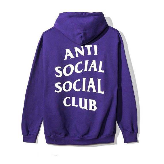 Anti Social Social Club Hoodie Purple ASSC / #clothing #hoodie @EtsyMktgTool http://etsy.me/2iBxabL