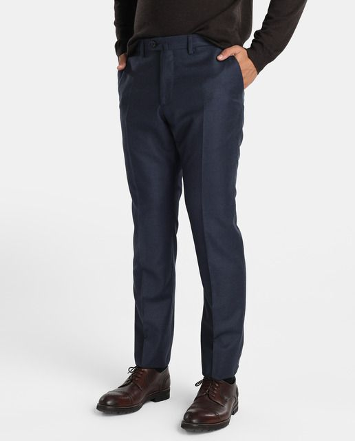 Pantalón de hombre Emidio Tucci Colección Black regular de vestir azul
