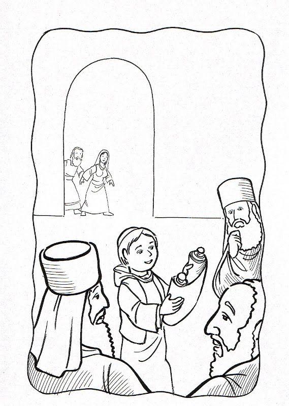 boy jesus in the temple coloring page publicado por edward en 2209