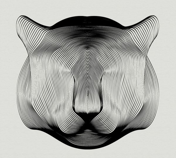 Animals Drawn with Moiré Patterns by Andrea MininiInspirationist | Inspirationist