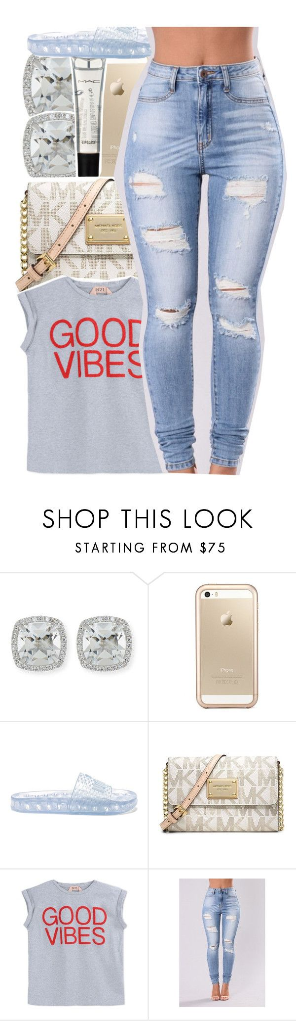 """you stay forever on my mind, see you on the other side. "" by yourmajestytaay ❤ liked on Polyvore featuring Frederic Sage, Squair, M.A.C, Puma, Michael Kors and N°21"