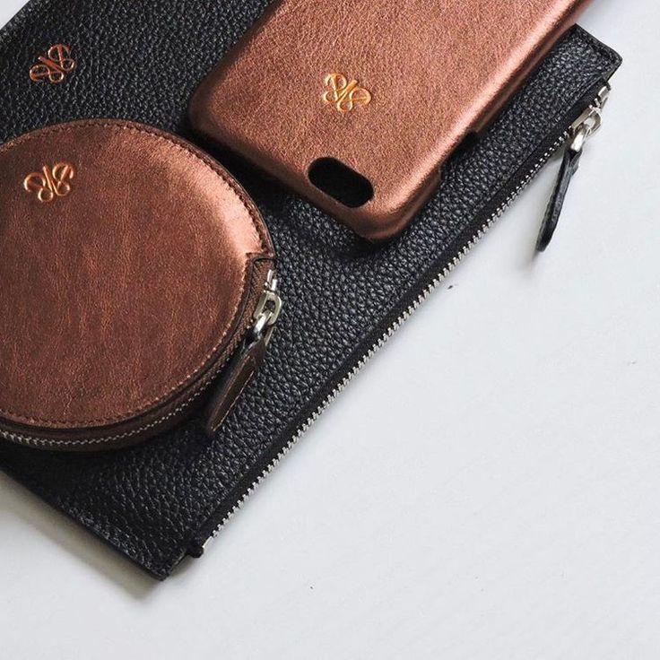 copper metallic accessories 💫 #clutch #coincase #iphonecase #iphonekilif #bozukparalik #silver #copper #luxe #style #fashion #deriaksesuar #bakir #gumus #deritasarim #deriaksesuar