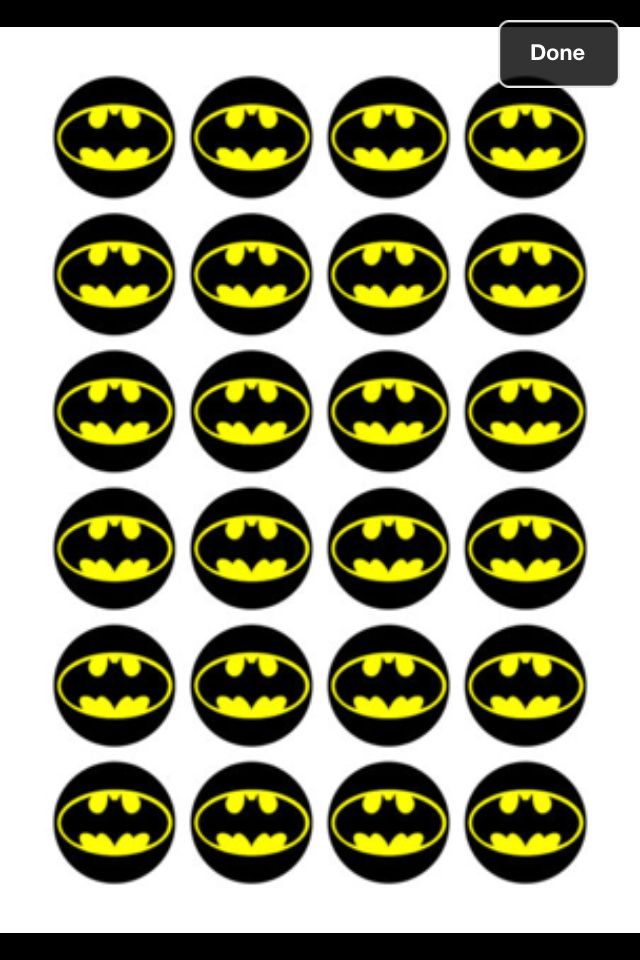 Batman Cupcake Toppers Alexis Pinterest Cupcake