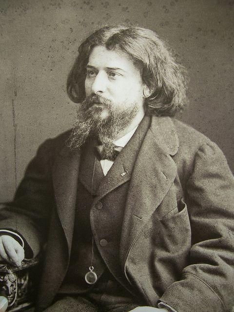 Alphonse Daudet par Nadar (1891) écrivain français (mai 1840- décembre 1897)