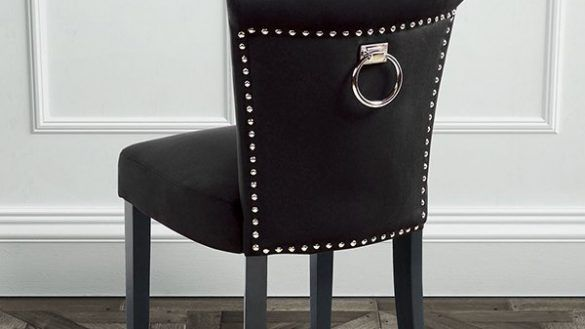 Furniture Black Velvet Dining Chairs New Positano Chair With Ring