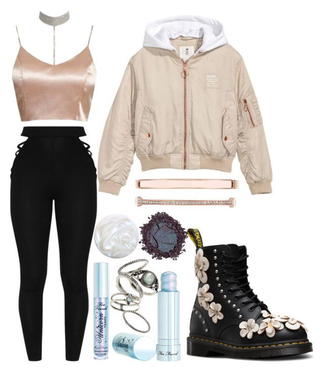 """untitled #6"" by kwharmony on Polyvore featuring Too Faced Cosmetics, H&M, Topshop and Anne Klein"