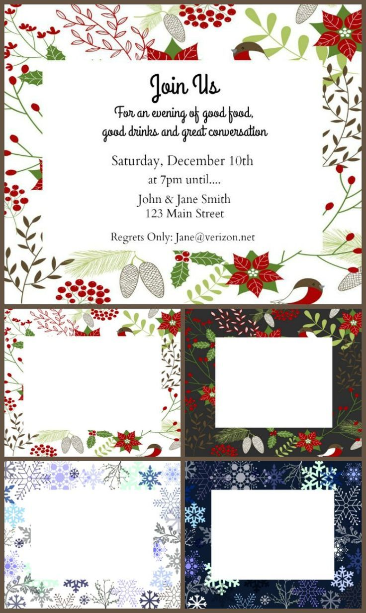 17 best ideas about holiday invitations holiday enjoy these printables to make your own holiday invitations templates that you can