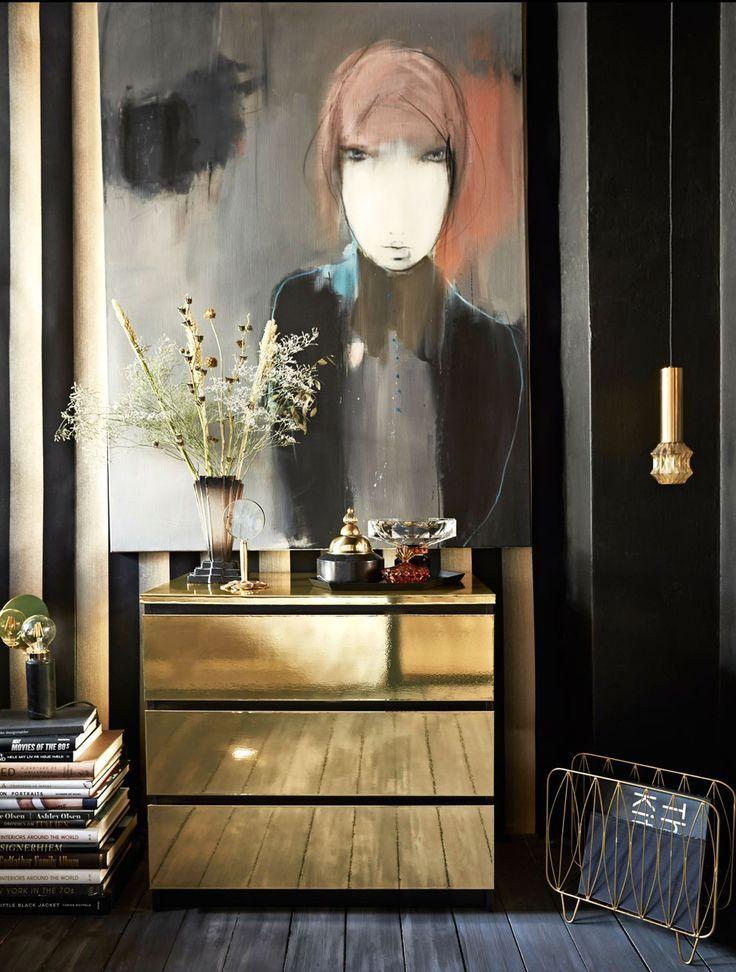 DIY: From simple IKEA dresser to beautiful gold dresser #Schminktisch #Kissen #Upcycli …  – Kommode