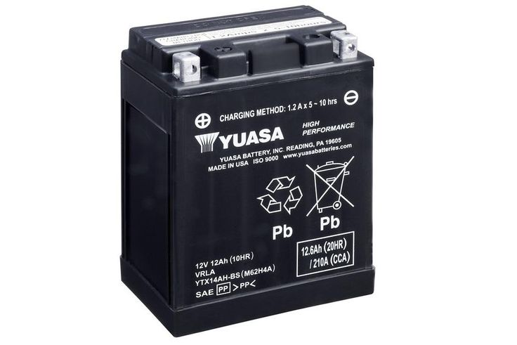 Yuasa YTX14AH Battery. *Factory Activated*