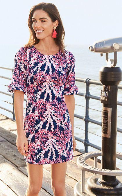 e695acff3d589c Nauti Navy Beyond The Sea Best Summer Dresses, Spring Dresses, Stretch Dress,  Ruffle