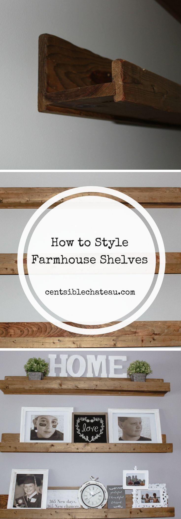 Farmhouse Shelves|Fixer Upper Shelves| Farmhouse Style|Farmhouse Decor