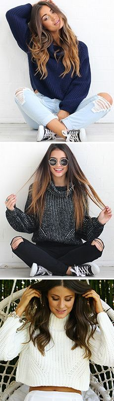Wanna prepare for this upcoming Fall? This simple style sweater could be your best choice. Tap the photo to see more at CUPSHE.com