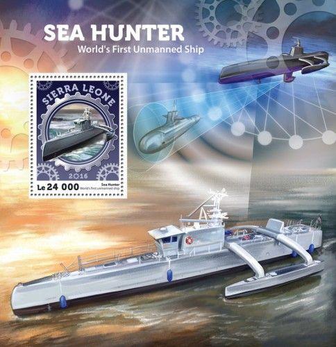SRL16409b Sea Hunter – World's First Unmanned Ship, submarine