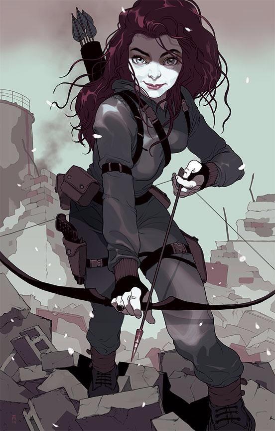 Lorde x Katniss Everdeen by Tomer Hanuka *