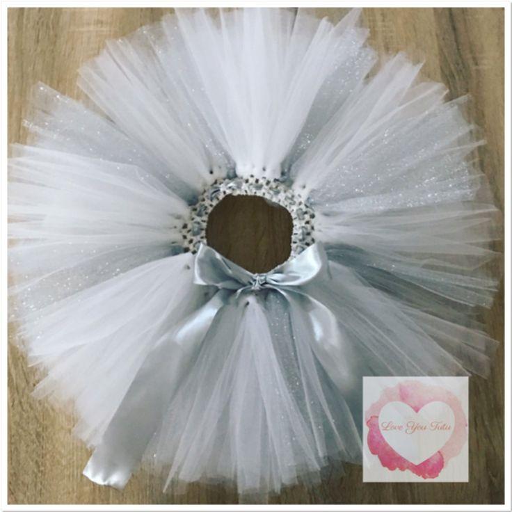White and silver short Tutu skirt