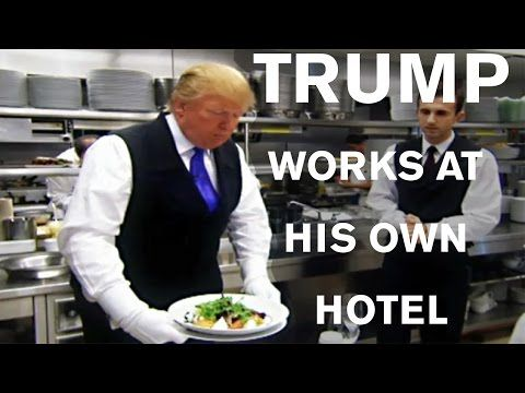 THIS IS OUR NEW PRESIDENT! Donald Trump spending a day in the shoes of his employees at Trump Tower Chicago. Aired on the Oprah Winfrey show, 2011