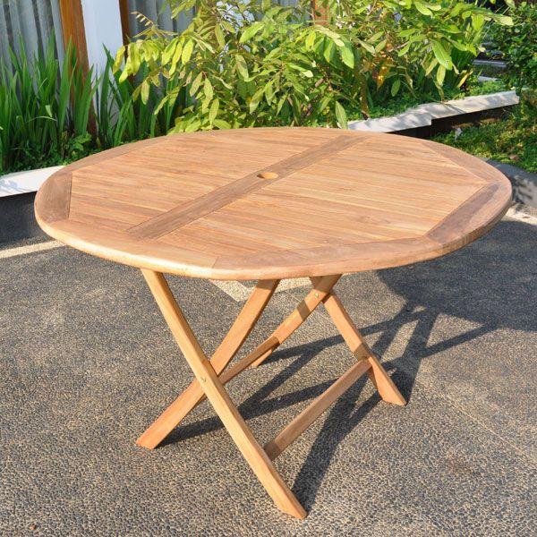 round folding garden table