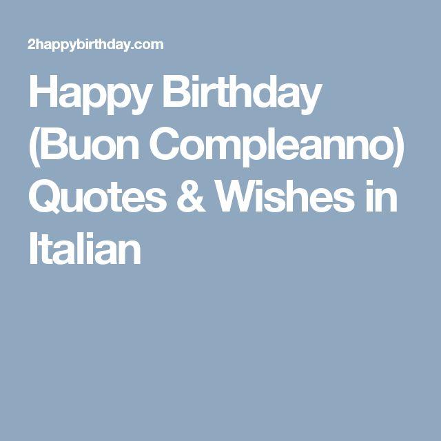 Best 25+ Happy Birthday In Italian Ideas On Pinterest
