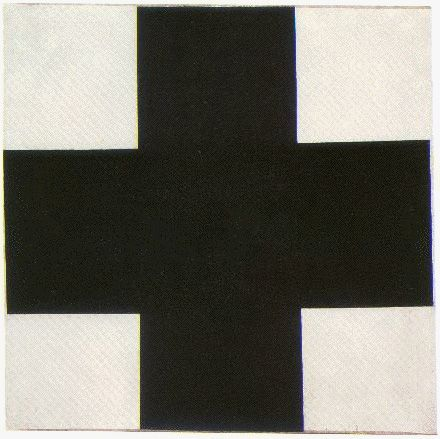 Black Cross, 1923, Kazimir Malevich, oil on canvas, 42 x 42 in., collection of The Russian State Museum, St. Petersburg. The first version of Black Cross painted in 1915.