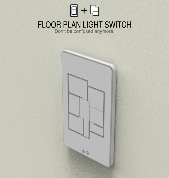 floor plan light switch lets you control all the lights in your house in one spot. much better than turning them off and sprinting to your bedroom through the darkness. What a great idea!